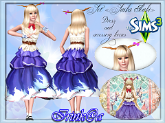 Sims 3 outfit, fashion, clothing, female, dress, accessories