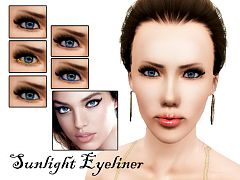 Sims 3 eye, eyeliner, makeup, cosmetics