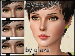 Sims 3 eyes, costume makeup, contact lenses, female