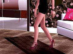 Sims 3 shoes, celebrity, brand, designer