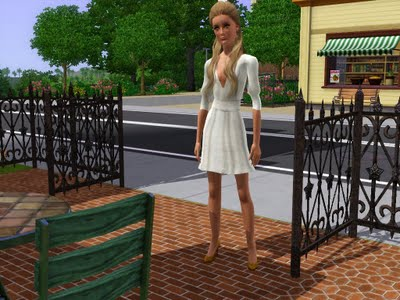 Sims 3 Updates - JB and IC : White simple dress and Christian ...