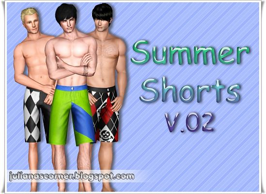 Sims 3 shorts, bottom, clothing, male, outfit