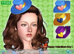 Sims 3 heart, hat, accessory
