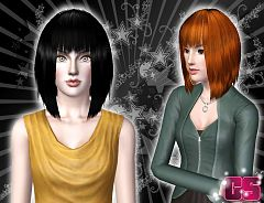 Sims 3 hair, hairstyle, female, bob