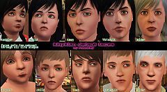 Sims 3 skintone, skintones,  face, faces