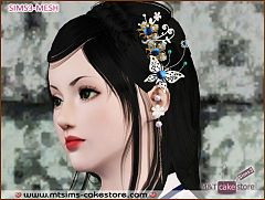 Sims 3 jewelry, accessories, female, hair
