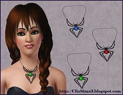 Sims 3 necklace, jewelry, spider