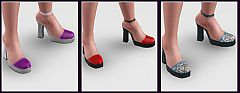 Sims 3 shoes, high heels, female, fashion
