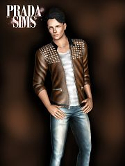 Sims 3 top, jacket, fashion, leather, top, males