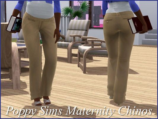 Sims 3 pants, chinos, maternity, clothes