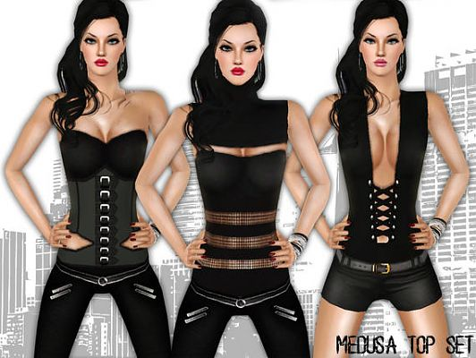 Sims 3 top, blouse, female, sims 3, fashion