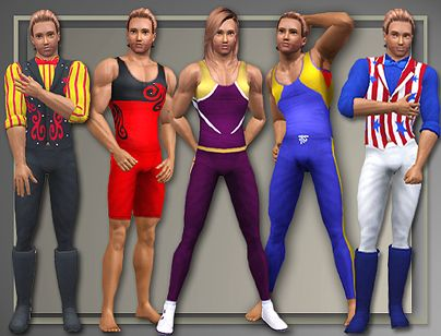 Sims 3 outfit, set, males, careers, showtime