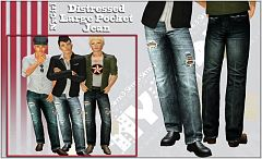 Sims 3 pants, jeans, bottom, fashion, denim, distressed