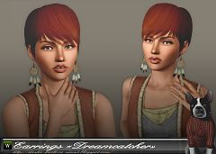 Sims 3 earrings, accessories, jewelry, female
