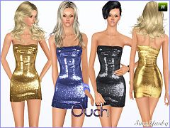 Sims 3 dress, fashion, clothing, female, formal