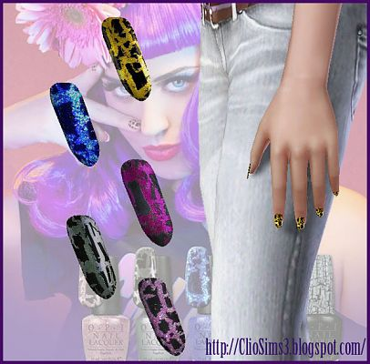 Sims 3 nails, accessories