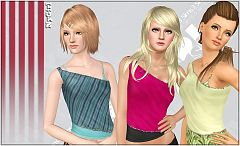 Sims 3 top, clothing, female, fashion