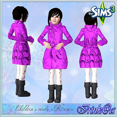 Sims 3 fashion, clothing, female, coat, child