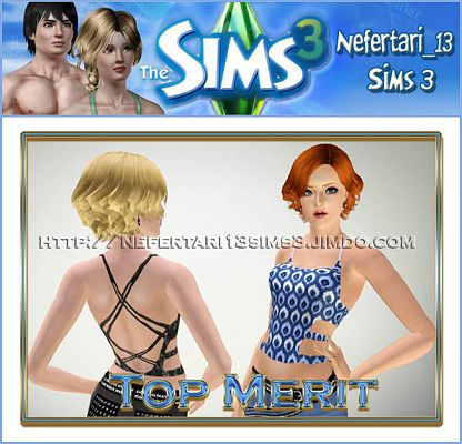 Sims 3 clothing, female, tops, fashion