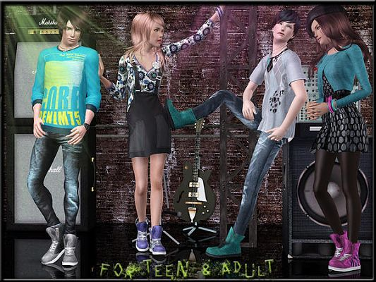 Sims 3 shoes, boots, footwear, sims 3, sims3