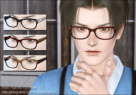 Sims 3 glasses, accessories, male