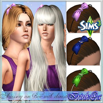 Sims 3 hat, accessories, female, bow