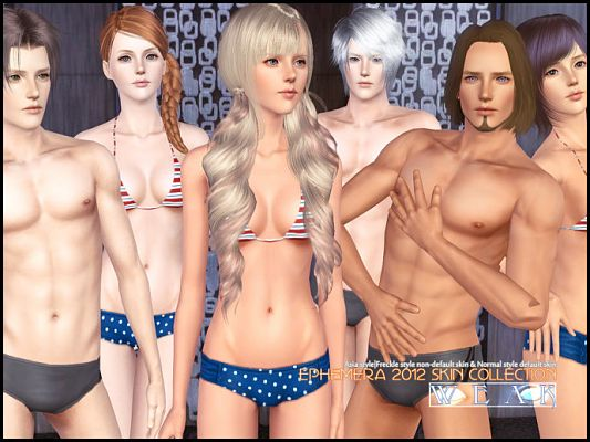 Sims 3 skin, skintone, genetics, female, male
