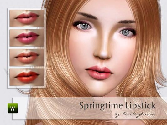 Sims 3 lips, lipgloss, makeup, female
