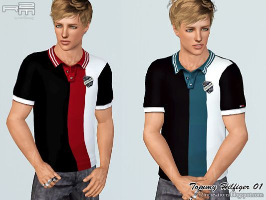 Sims 3 top, polo, shirt, clothing, male