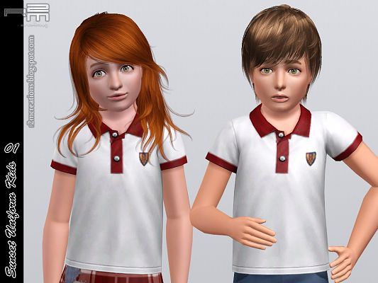 Sims 3 outfit, clothing, unifor, kids