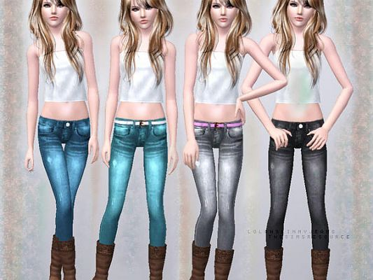 Sims 3 jeans, female, botttom