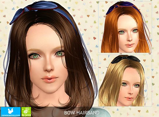 Sims 3 hair, hairband, accessory
