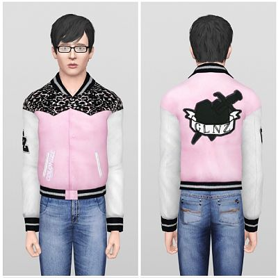 Sims 3 baseball, jacket, top, males