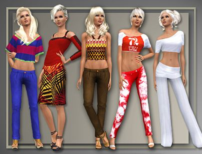 Sims 3 pants, bottom, females, clothes