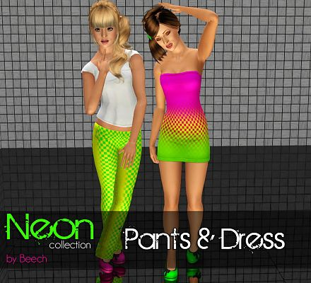 Sims 3  cloth, clothing, outfit, fashion, neon