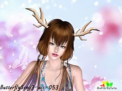 Sims 3 hair, accessories, female
