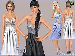 Sims 3 dress, fashion, female, clothing