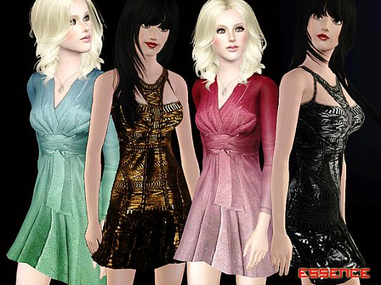 Sims 3 dress, fashion, female, clothing, formal