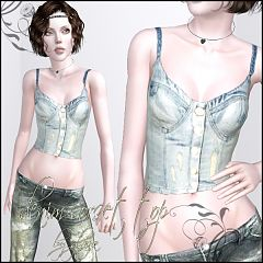 Sims 3 top, clothing, clothes, fashion, females, shoes, earrings