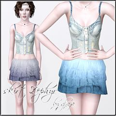 Sims 3 skirt, bottom, cloth, fashion