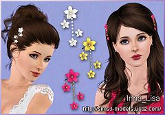 Sims 3 accessory, hair, female