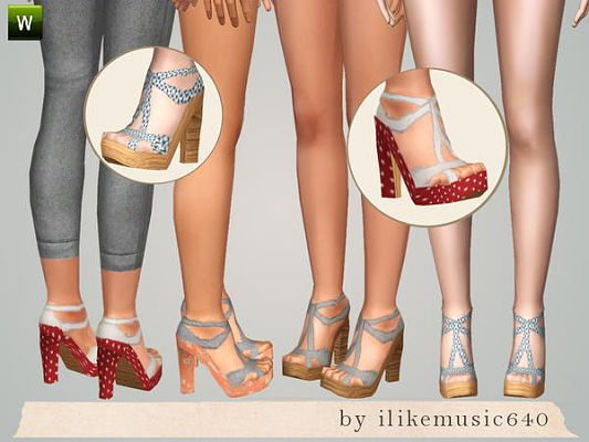 Sims 3 shoes, foowear, heels