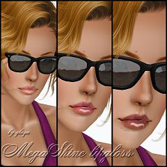 Sims 3 lips, lipstick, makeup, female