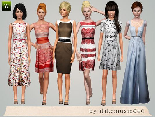 Sims 3 clothing, clothes, fashion, set