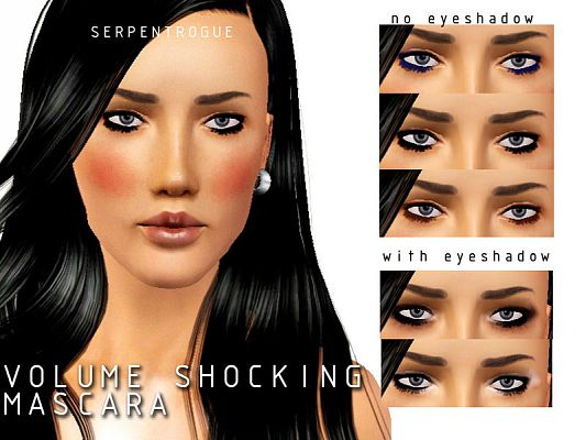 Sims 3 mascara, eyeliner, makeup, female