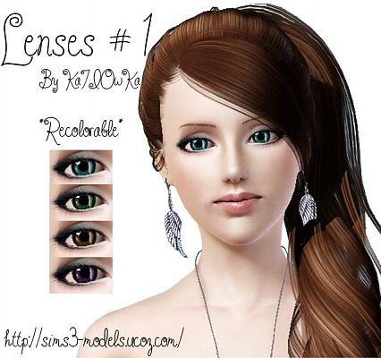 Sims 3 eyes, contacts, lenses
