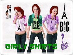 Sims 3 shirt, clothing, outfit, male, female