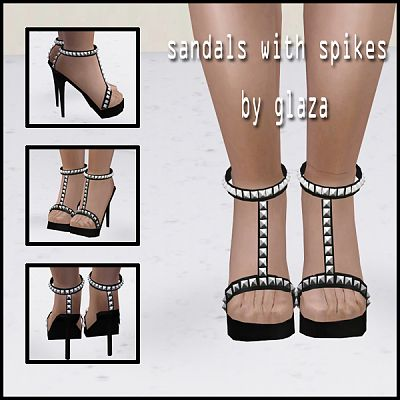 Sims 3 shoes, foowear, heels, sandals, spikes