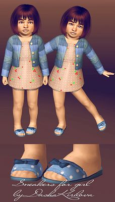 Sims 3 shoes, kids, sandals, girls, fashion