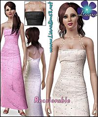 Sims 3 fashion, women clothing, gown, dress, formal, ball